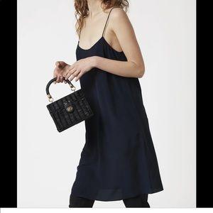 Ginia/rtw rubi scoop neck dress in navy. Size XS.